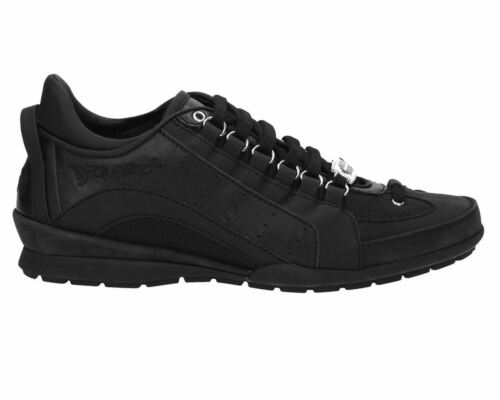 Noir Vitello 2124 Cuir Dsquared2 Sport en Sneakers 551 Baskets q7AvwaF