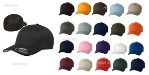 02ccc0df32340 Image is loading Original-FLEXFIT-Structured-Twill-Hat-FITTED-Sport-Basebal-