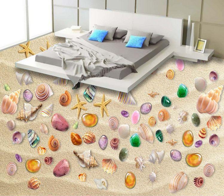 3D conchiglia colore Pavimento Foto Wallpaper Murales Muro Stampa Stampa Stampa Decalcomania 8f90d7