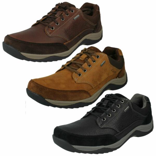 2019 Nuevo Estilo Para Hombres Cuero Con Cordones Impermeable Al Aire Libre Entrenador Clarks Informal Zapatos Baystonego Gtx-ver Oferta De Fin De AñO