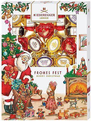 (1000g=40,05€) Niederegger Marzipanerie Weihnachten - Marzipan Pralinen - 400g