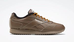 Reebok-Men-039-s-Classics-Royal-Glide-Ripple-en-marron-et-cuir-noir-baskets