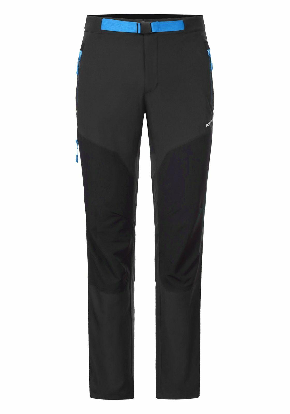 Icepeak Mens Hiking Trekking Outdoor Trousers santeri Grey bluee