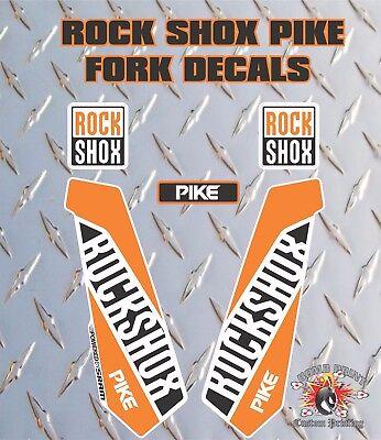 Rock Shox Pike Fourche Autocollants Decals Graphics vtt DOWN HILL MTB 010