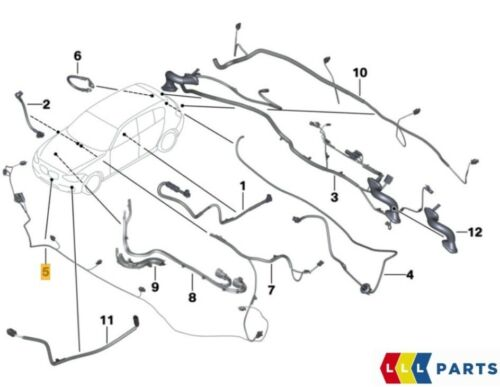 NEW GENUINE BMW 3 SERIES F34 GT FRONT PDC PARKING SENSORS WIRING LOOM 9326082