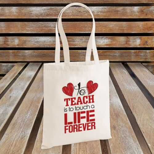Teacher/'s Gift Red To Teach is To Touch a Life Forever Novelty Tote Bag