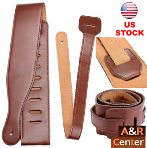 Brown-Adjustable-Soft-PU-Leather-Guitar-Strap-Belt-for-Electric-Acoustic-Bass