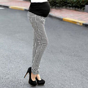 b0299f0d99885 Image is loading Houndstooth-Maternity-Overalls-Pants-Pregnant-Women-for- Office-