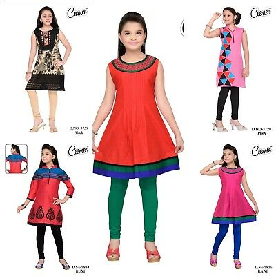 Der GüNstigste Preis Girls Kurtis With Leggings Cotton Formal Casual Indian Pakistani Traditional