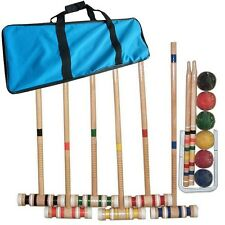 Complete Croquet Set with Carrying Case by Trademark Games - Easy to Transport!