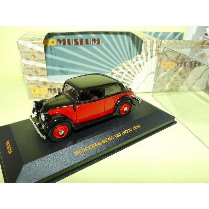 MERCEDES 130 W23 1934 red et black IXO MUS026 1 43