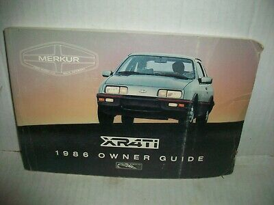 1986 Merkur XR4Ti owners manual | eBay