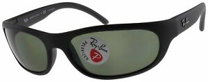 Ray Ban Predator Polarized Sunglasses RB4033 601S48 Matte Black W/ G-15 Green