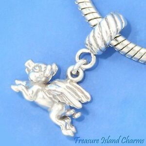 FLYING-PIG-PIGGY-925-Solid-Sterling-Silver-EUROPEAN-EURO-Dangle-Bead-Charm