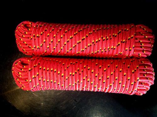 Nr.2 Polypropylen Seil 8mm,30m,Bootsleine,Ankerleine,Festmacher,Reepschnur,Rot