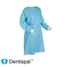 Premium Medical Dental Protective Isolation Gowns With Knit Cuff Blue 10 Pcs