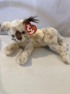 TRACKS - LYNX -  WILD CAT - TY BEANIE BABY -  OCTOBER 5 BIRTHDAY 2001
