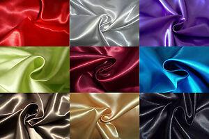 Tissu-SATIN-100-polyester-coloris-au-choix-au-metre-deco-fete-mariage