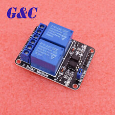 New Listing125pcs 2 Channel 5v Relay With Optocoupler For Arduino Pic Arm Dsp Avr New