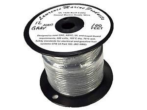 50 Foot Reel 12 Gauge Tinned Marine Primary Wire Black