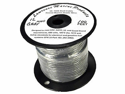 Red 100 Foot Reel 12 Gauge Tinned Marine Primary Wire