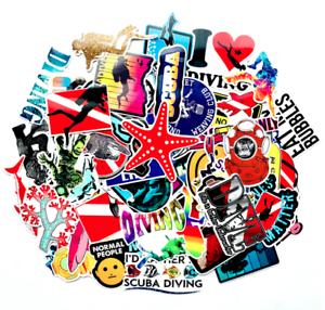 60-Scuba-Diving-Sticker-Bomb-Funny-Laptop-Skateboard-Car-Waterproof-Vinyl-Decals