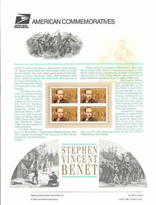 545-32c-Stephen-Vicent-Benet-3221-USPS-Commemorative-Stamp-Panel