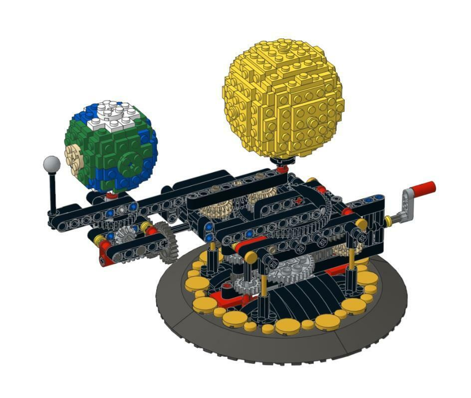 Lego Technic Planetarium Orrery - Earth, Moon and Sun Model kit complete set