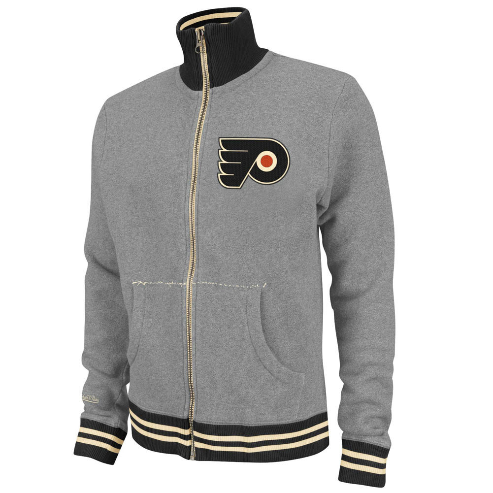 NHL Mitchell & Ness 6024 vintage French terry Training chaqueta Philadelphia Flyers