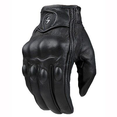 Leather Motorcycle Gloves Retro Perforated 2 Style (M,L,XL) Good looking!