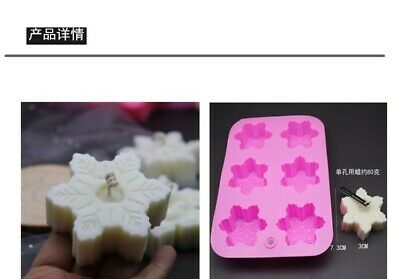 for soap making Snowflake with a sticker model #3 Maked from high quality silicone silicone soap mold