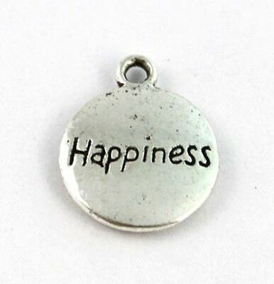 20pcs Tibetan silver round HAPPINESS charms A12098
