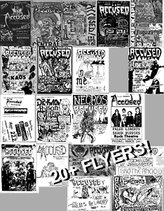 Punk Rock gig flyer lot ACCUSED Poison Idea Bad Brains Dr Know 20+ Flyers