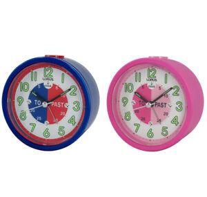 New Lorus Time Teacher Beep Alarm Clock For Kids Children Blue  LHE034L
