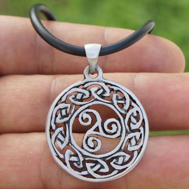 Norse nordic druid celtic triskele triskelion trinity pagan wicca norse nordic druid celtic triskele triskelion trinity pagan wicca pewter pendant aloadofball Image collections