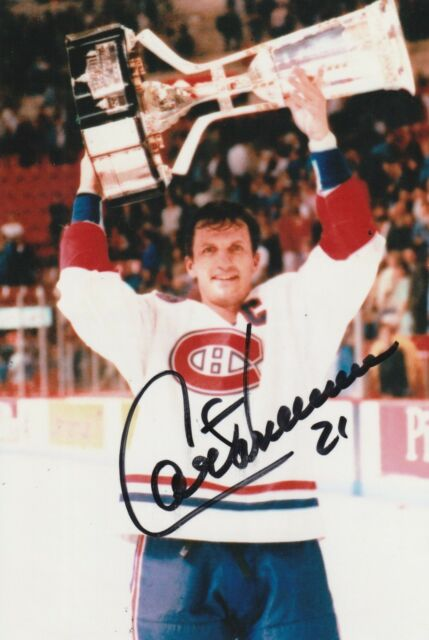 GUY CARBONNEAU AUTHENTIC AUTOGRAPH MONTREAL CANADIENS PHOTO