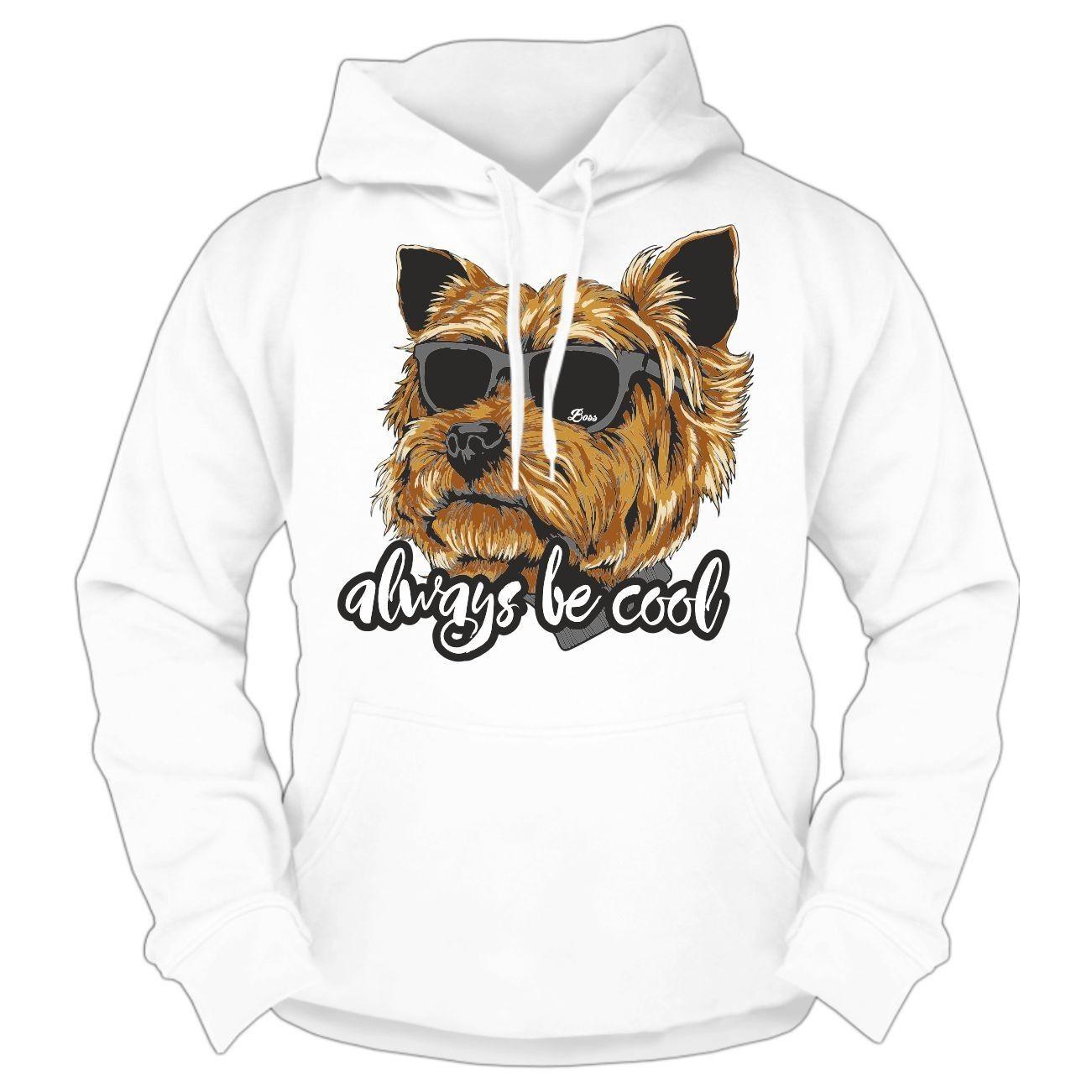 Kapuzenpullover Yorkshire Terrier always cool Hoodie Hunde Dogs Rasse Haustier