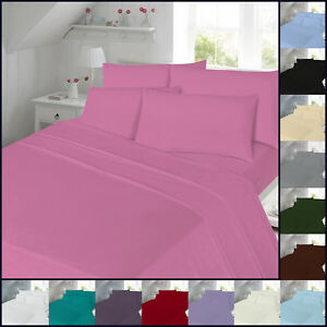 Image Is Loading Percale Fitted Sheet Non Iron Bed Single Double