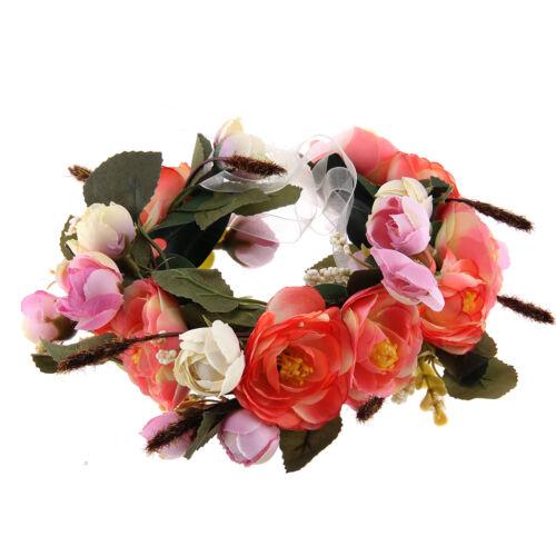 Girl Flower Headband Floral Crown Garland Wedding Party Beach Bride Headdress