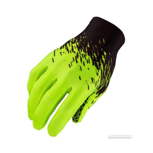 Supacaz SupaG LONG Full Finger Cycling Gloves BLACK//NEON YELLOW