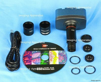 10.0 MP USB CMOS MICROSCOPE DIGITAL COLOR CAMERA EYEPIECE AND VIDEO SYSTEM, NEW