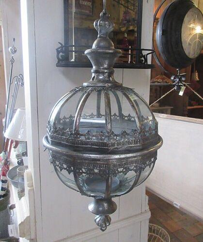 HÄNGE LATERNE KUGEL ORIENT 53cm H ANTIK NOSTALGIE STIL METALL HÄNGELATERNE LAMPE
