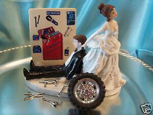 Grease Monkey Auto Wedding Cake Topper Box Tool Mechanic