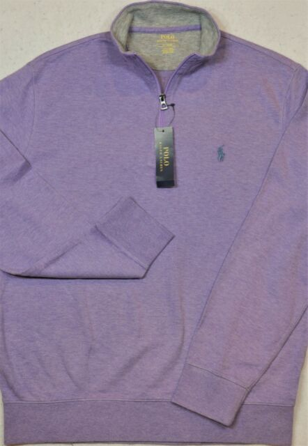 196ab95fb Polo Ralph Lauren Jersey Pullover Purple 1 2 Half-zip Size L Large for sale  online