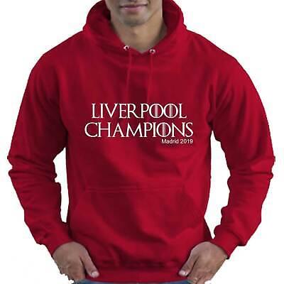 Temperato Liverpool Champions 2019 Bambini Bambini Ragazzi Ragazze Felpa Con Cappuccio Felpa Con Cappuccio-mostra Il Titolo Originale