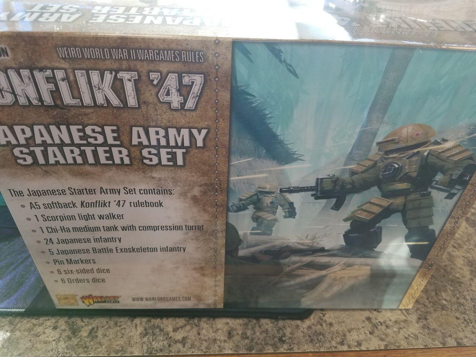 Japanese Army Konflikt '47 Starter Set Warlord Warlord Warlord Games Models New  addf31