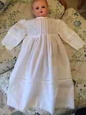 Vintage Christening gown baby dress Embroidered lace Never Used Excellent