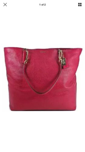 donkerroodPerfecte cadeau358 NorthSouth Tote in leer Madison NwtCoach zqMpUVS
