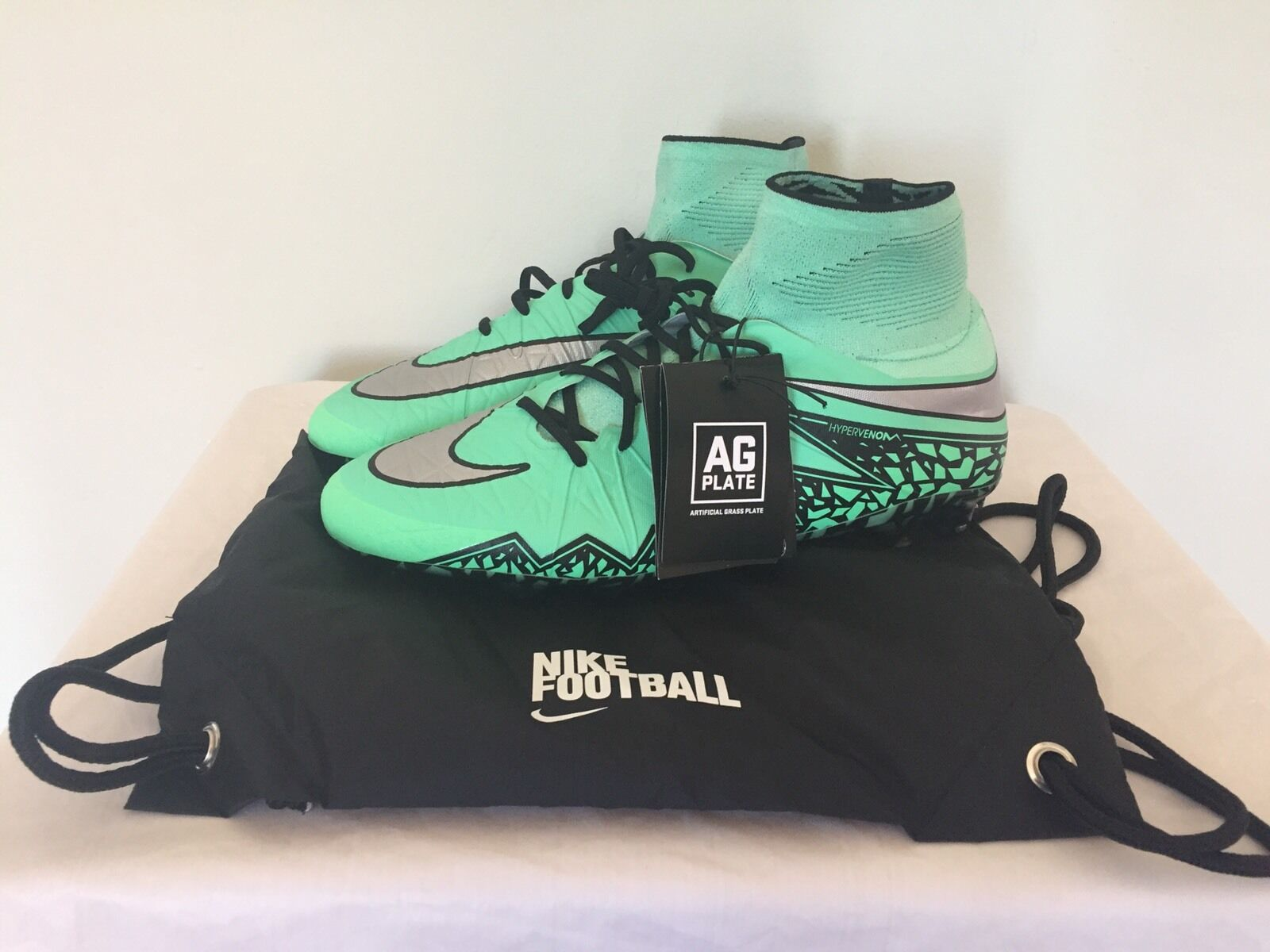 Men's Sz Nike Hypervenom Phantom II AG-R Green Glow Soccer Cleats 747490-308