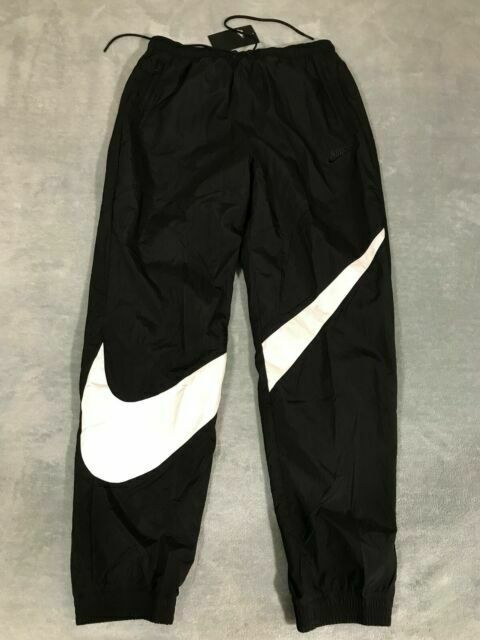público Preguntarse Puede ser ignorado  Nike Sportswear Big Swoosh Woven Pants Black/white Size Small Ar9894 010  for sale online | eBay